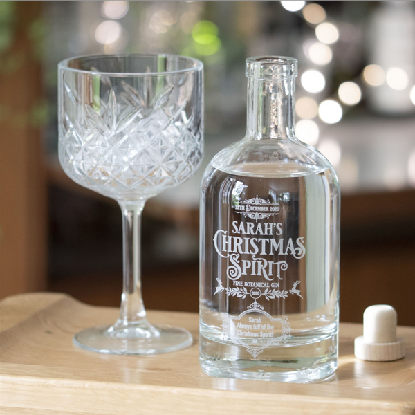 Personalised Christmas Spirit Gin Bottle