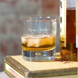 Personalised Script Whisky Tumbler Glass