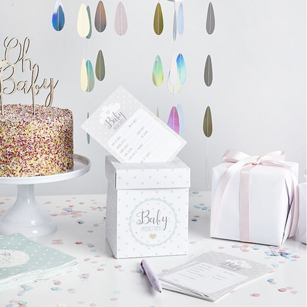 Baby Shower Prediction Cards and Postbox Set