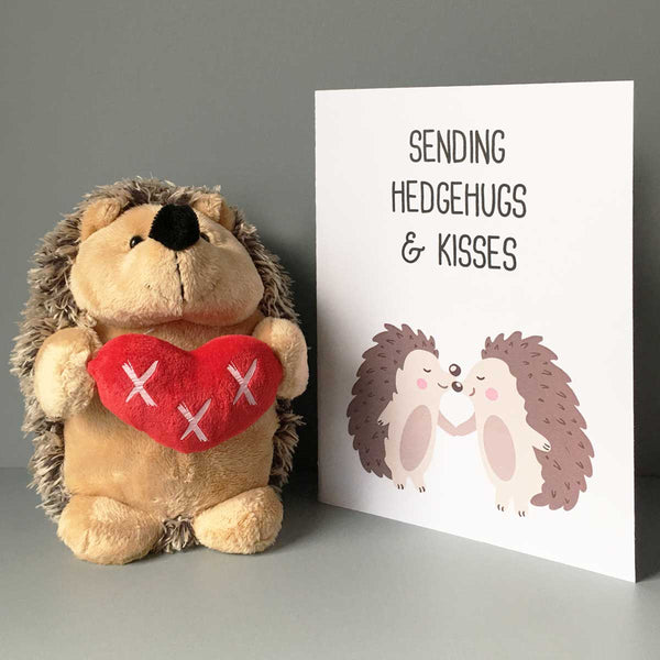 Sending Hedgehugs & Kisses Greetings Card