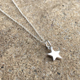 Sterling Silver Star Necklace & Earrings Set - Personalised Gift Box