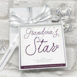 Sterling Silver Star Necklace Personalised Gift Box - Various Thoughtful Messages