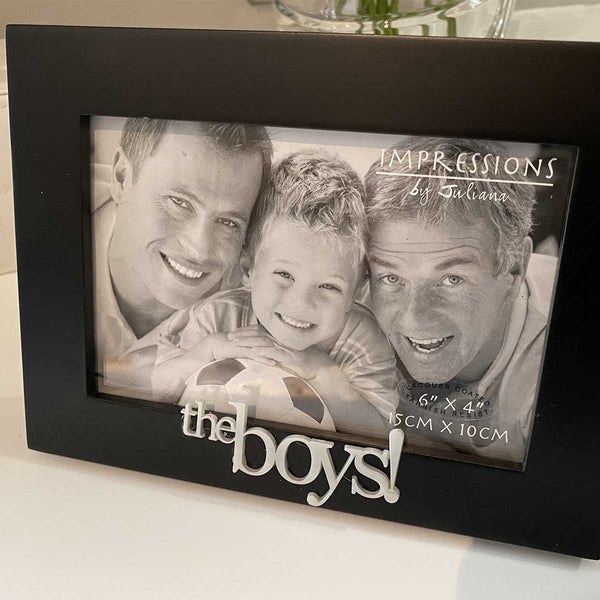 The Boys black frame with simple 3D lettering