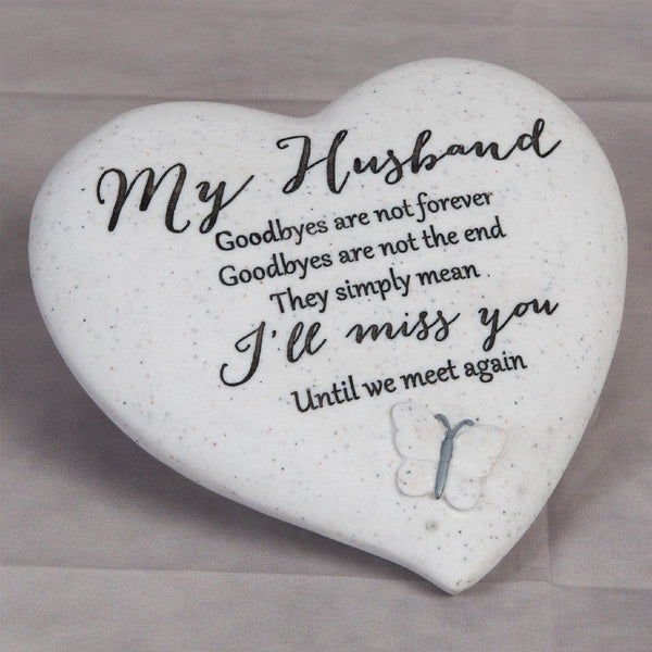 Thought of you Grave Marker Memorial Heart- My Husband