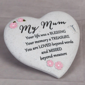 You added Thought of you Grave Marker Memorial Heart- My Mum to your cart.