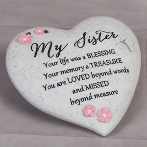You added Thought of you Grave Marker Memorial Heart- Sister to your cart.