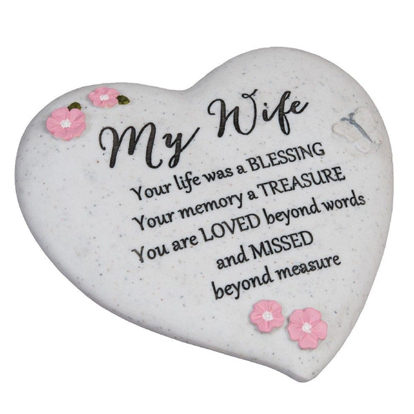 Thought of you Grave Marker Memorial Heart- My Wife