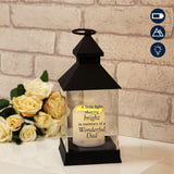 Thoughts of you Memorial Graveside Lantern in Black - Dad