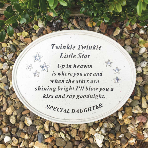 'Twinkle Little Star' Outdoor Memorial Plaque - Daughter
