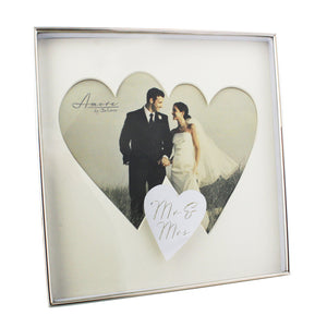 You added Amore Silverplated Wedding Box Frame with Twin Hearts Mr & Mrs to your cart.