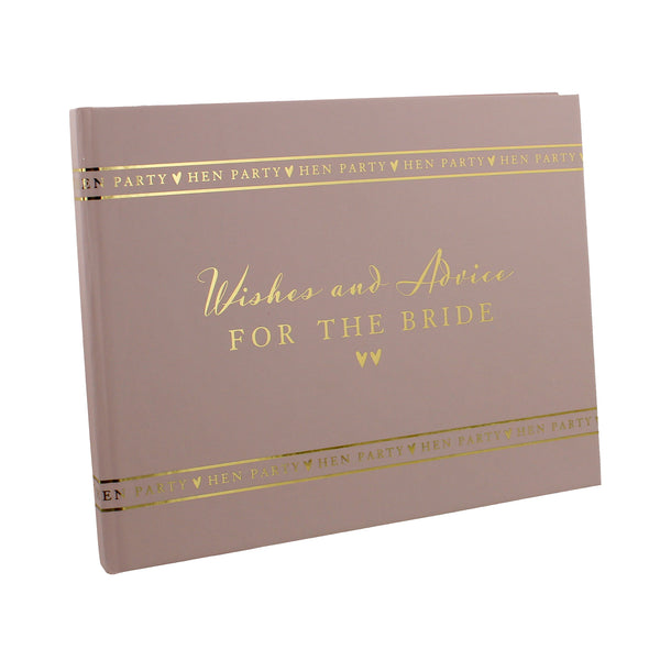 Amore Hen Party Guest Book 'Wishes & Advice'