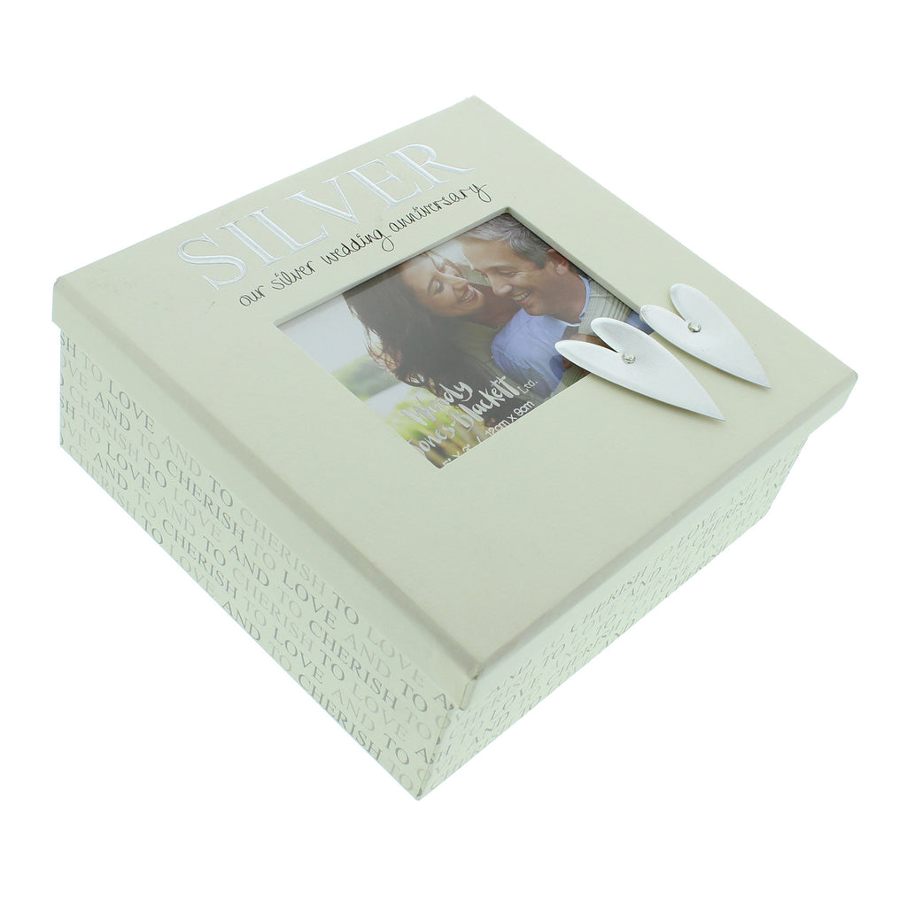 Wendy Jones Blackett Keepsake Box Silver Anniversary