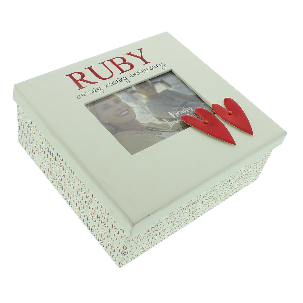 Wendy Jones Blackett Keepsake Box Ruby Anniversary