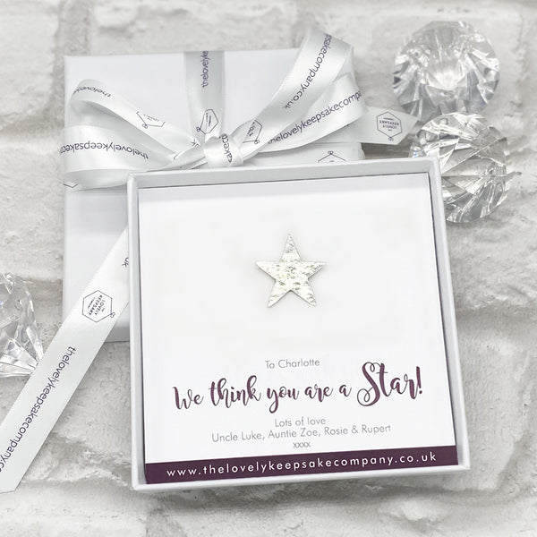 Star Token Personalised Gift Box - Various Thoughtful Messages