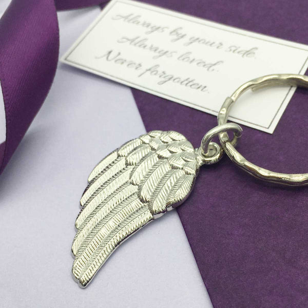 'Always With You' Memorial Wing Keyring
