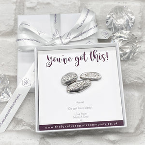 You added Love, Hugs & Strength Pebble Tokens Personalised Gift Box - Various Thoughtful Messages to your cart.
