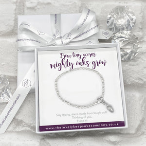 You added Acorn Charm Bracelet Personalised Gift Box - Various Thoughtful Messages to your cart.