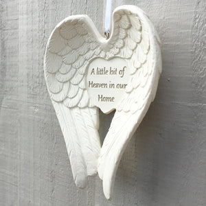 You added A Little Bit Of Heaven In Our Home Hanging Angel Wings to your cart.