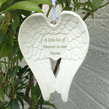 A Little Bit Of Heaven In Our Home Hanging Angel Wings
