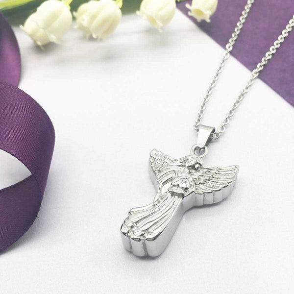 Angel Cremation Ashes Urn Memorial Necklace
