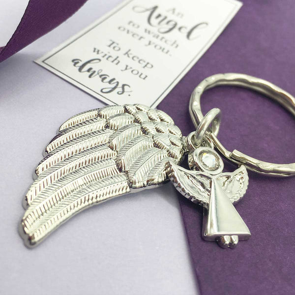Angel Charm 'Always With You' Memorial Wing Keyring