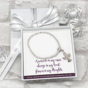 You added Angel Diamante Charm Bracelet Personalised Gift Box - Various Thoughtful Messages to your cart.