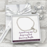 Angel Charm Bracelet Personalised Gift Box - Various Thoughtful Messages