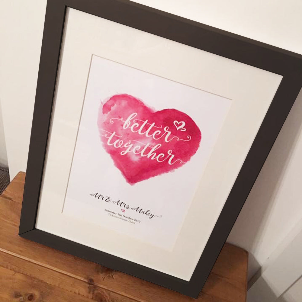 Personalised 'Better Together' Print