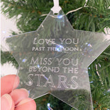 Miss You Beyond The Stars Acrylic Decoration