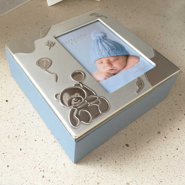Baby Photo Keepsake Box - Blue