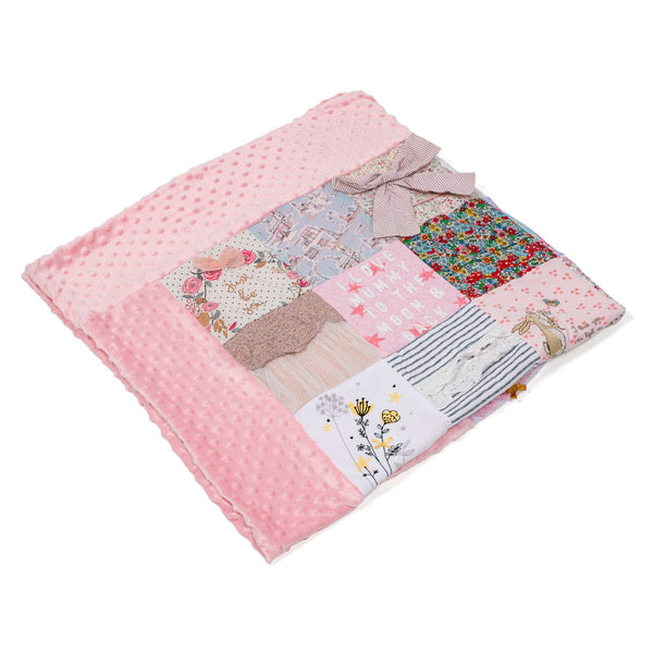 Your Clothes Patchwork Bobble Blanket The Lovely Keepsake Company