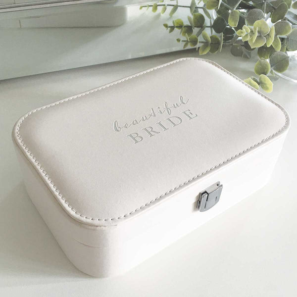 Beautiful Bride Leatherette Jewellery Box