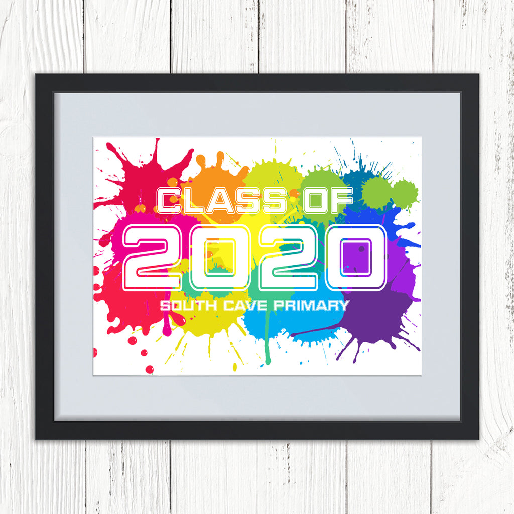 Personalised Rainbow Class of 2020 Print
