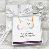 Keep Smiling Cloud Necklace Personalised Gift Box - Various Thoughtful Messages