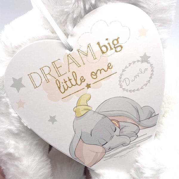Disney Dumbo Dream Big Hanging Heart Plaque