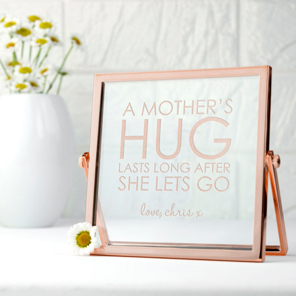 Engraved 'A Mother's Hug' Rose Gold Frame