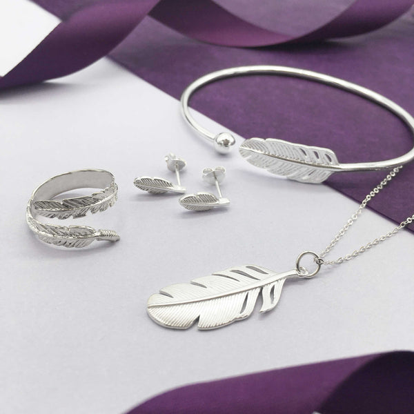 Sterling Silver Feather Jewellery Collection