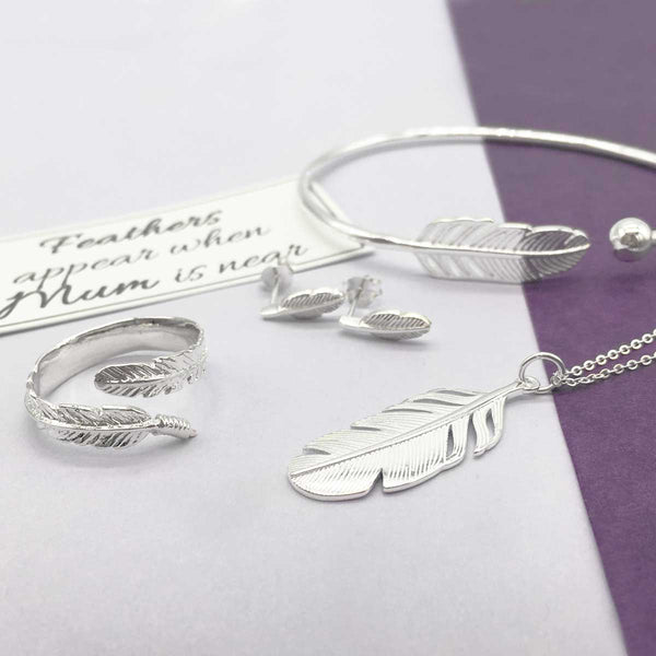 Feathers Appear When Mum is Near Sterling Silver Feather Jewellery
