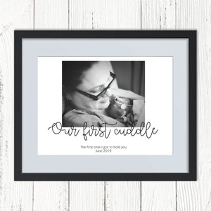 You added Our First Cuddle NICU Personalised Photo Print to your cart.