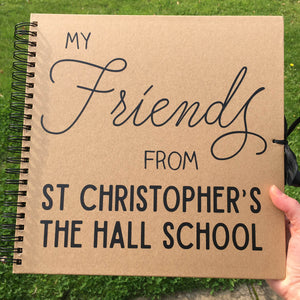 You added Personalised School Friends Scrapbook (Kraft, Black, White) to your cart.