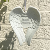 Special Grandma Hanging Angel Wings