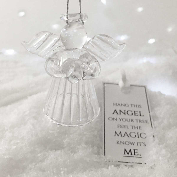 Glass Angel Hanging Ornament