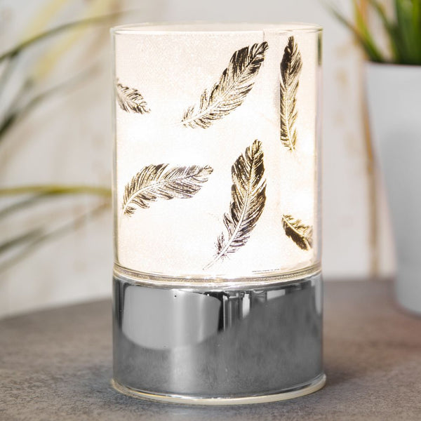 Glass Black Feather Design Tube Light with LED's