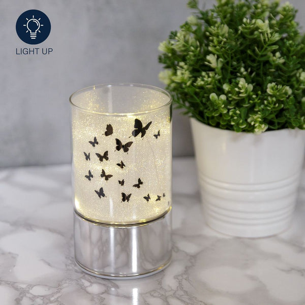 Glass Butterfly Design Tube With LED Lights 15CM