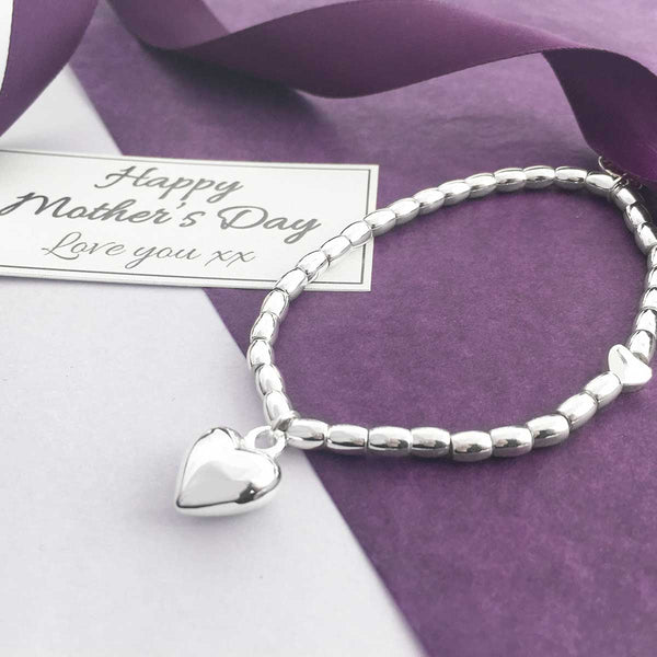Heart Charm Bracelet - Happy Mother's Day