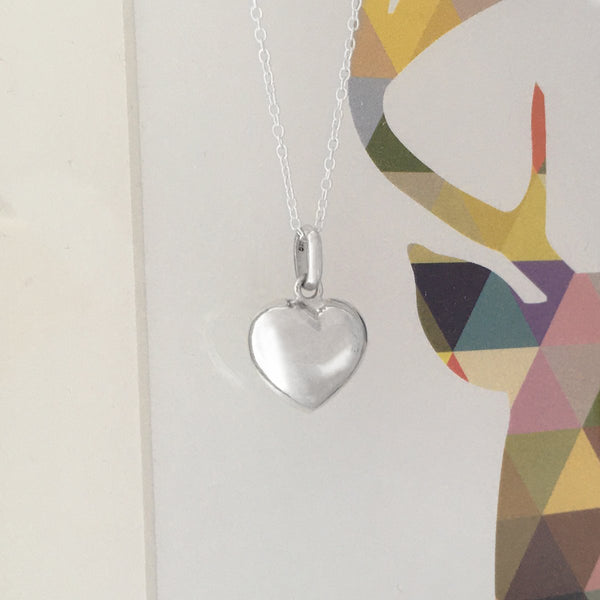 Sterling Silver Heart Necklace Create Your Own Personalised Gift Box