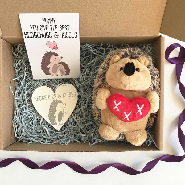 Personalised 'You Give the Best Hedgehugs & Kisses' Gift Hamper