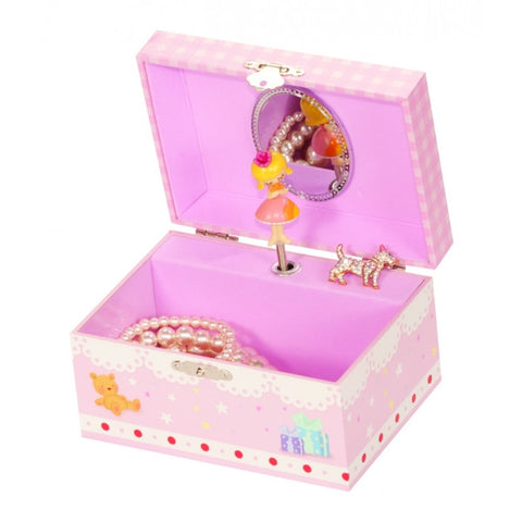 Pink Lace Fairy Musical Jewellery Box