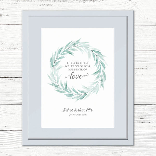 "Personalised ""Never Let Go Of Love"" Print"