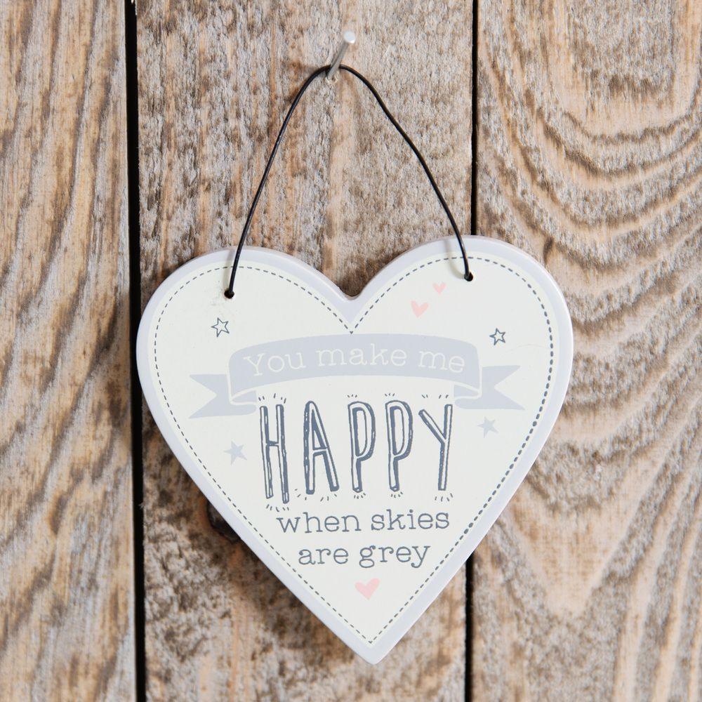 Love Life Heart Plaque - You make me Happy